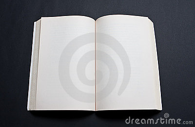 Blank spread of book