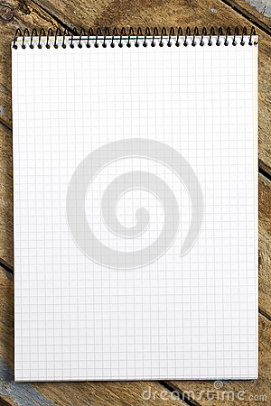 Blank Squared Note Pad