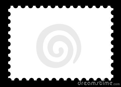 Blank stamp template on black