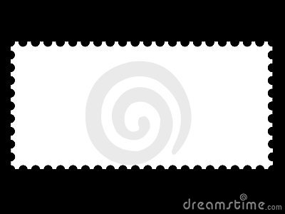 A blank stamp templates