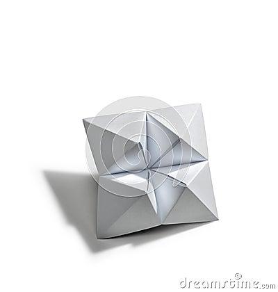 Blank star in origami
