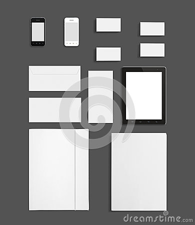 Blank Stationery Corporate ID Template