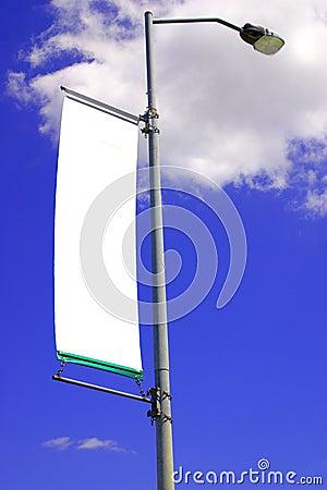 Blank street light banner