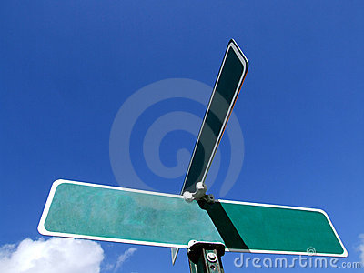 Blank Street Sign Ad