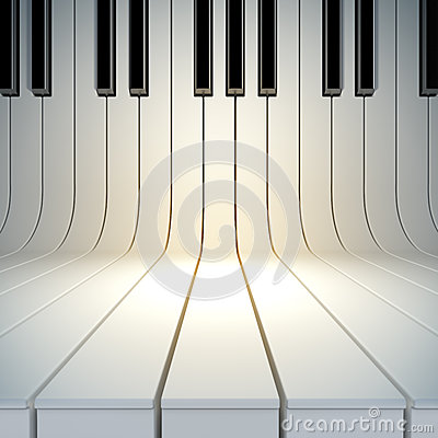 Free Blank Surface From Piano Keys Stock Photography - 28444442