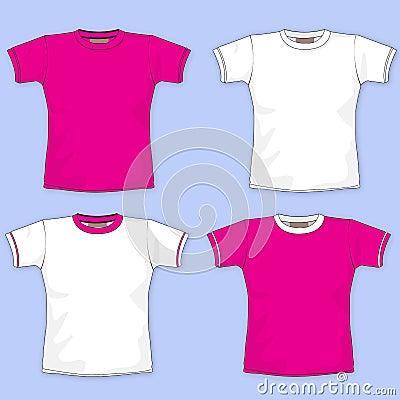 Plain pink t shirt template for Pink t shirt template