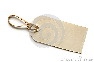 Blank Tag with Elastic Band