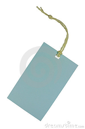 Free Blank Tag On White Stock Photography - 18588332