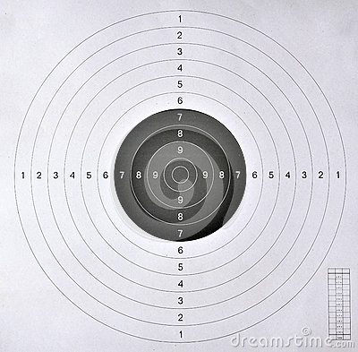 Free Blank Target  For Shooting Competition Royalty Free Stock Photography - 30006517