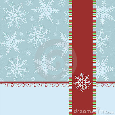 Blank template for Christmas greetings card