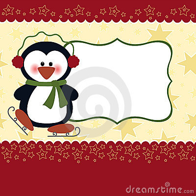 Free Blank Template For Christmas Greetings Card Royalty Free Stock Image - 16900066