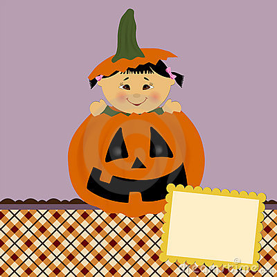 Blank template for halloween greetings card