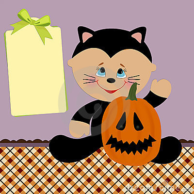Blank Template For Halloween Greetings Card Royalty Free Stock Images - Image: 15125319