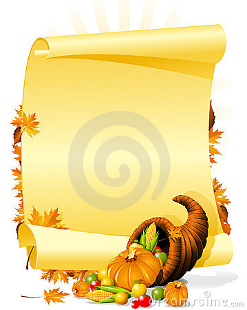 Blank thanksgiving banquet invitation