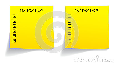 Blank ticked unticked to do list