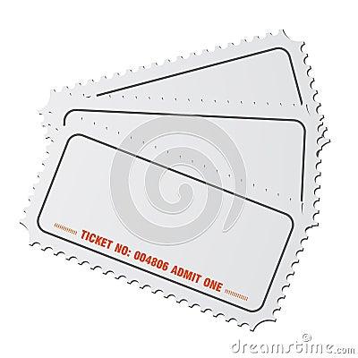 Blank tickets vector