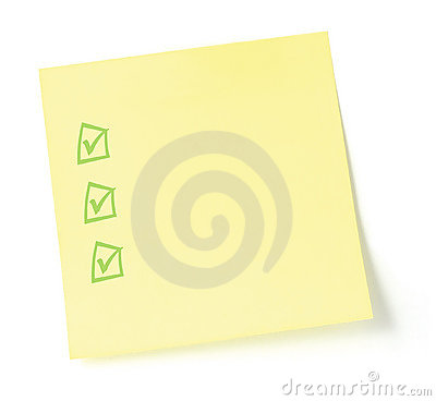 Free Blank To-Do List With Checkboxes Royalty Free Stock Photo - 4424025