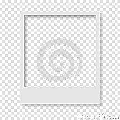 Free Blank Transparent Paper Polaroid Photo Frame Stock Photo - 77333620