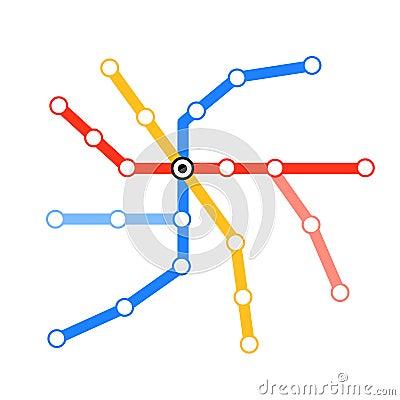 Blank tube metro map