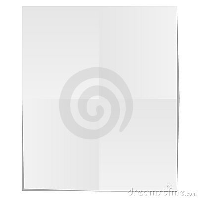 Blank unfolded paper