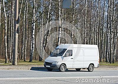 Blank van drives by
