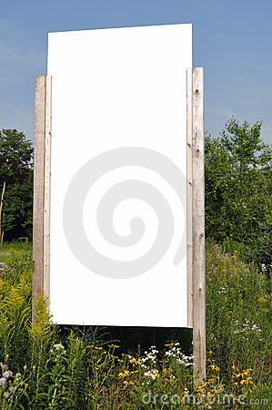 Blank Vertical Sign