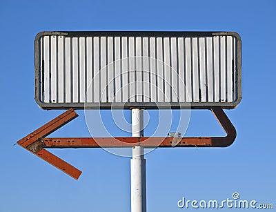 Blank Vintage Arrow Sign