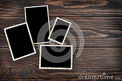 Blank vintage photo frames