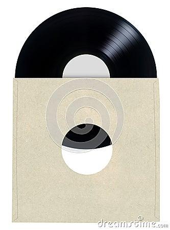 Blank Vinyl Record Sleeve