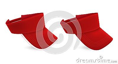 Blank visor template.