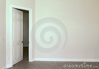 Blank wall with door