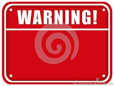 Blank warning board