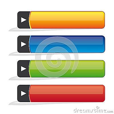 Blank website buttons