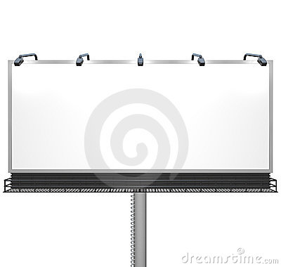 Blank White Billboard Ready for Your Message