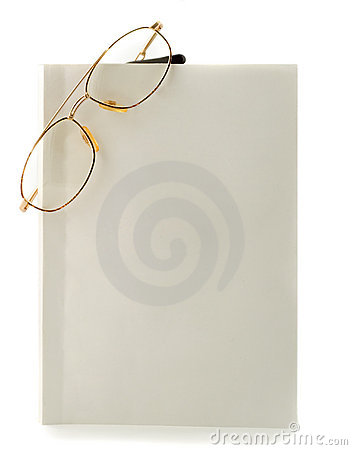 Free Blank White Book Spectacles Stock Image - 7972091