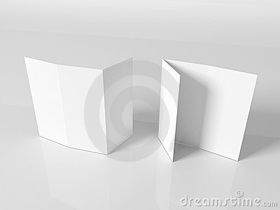 Blank white booklet template