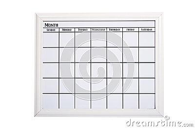 Blank White Calendar