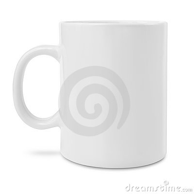 Blank white coffee mug