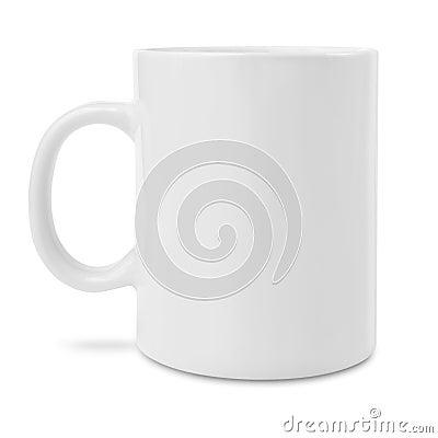 Blank white coffee mug