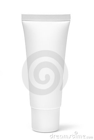 Free Blank White Cosmetic Tube Stock Photography - 16719522