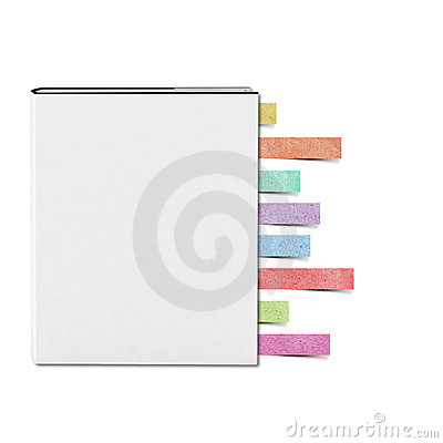 Blank White cover Book and Note pad recycled paper