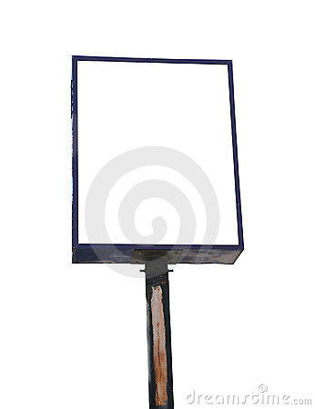 Blank White Isolate Road Sign
