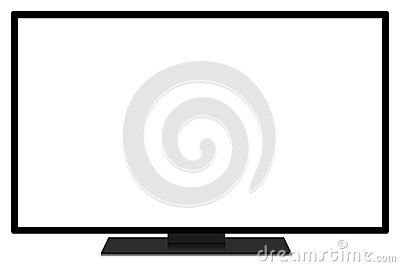 LCD TV screen Stock Photo