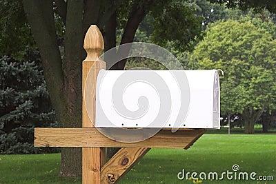 Blank White Mailbox 1
