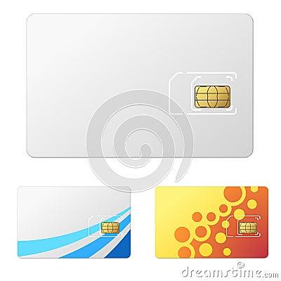 Sim Card Template Telecommunication Design Vector Stock Vector