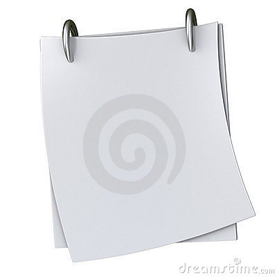 Blank white note paper 3d