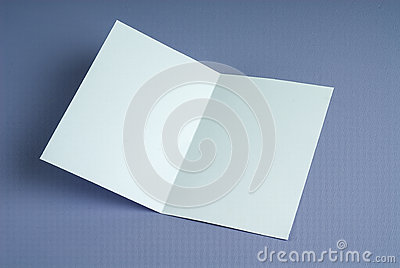 Blank white open gift card