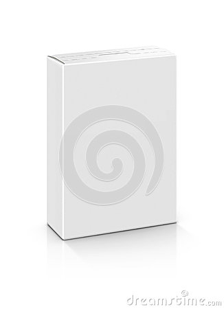 Free Blank White Paper Box Stock Photography - 51261912