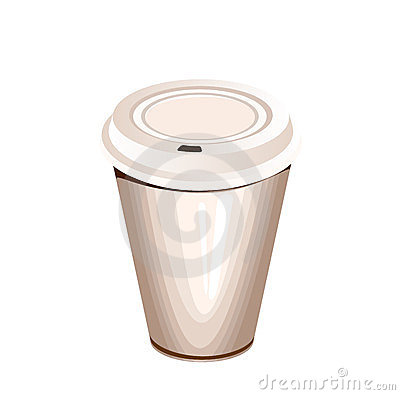 A blank white paper coffee cup