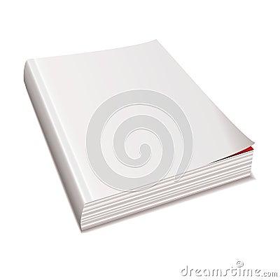 Blank white paper magazine